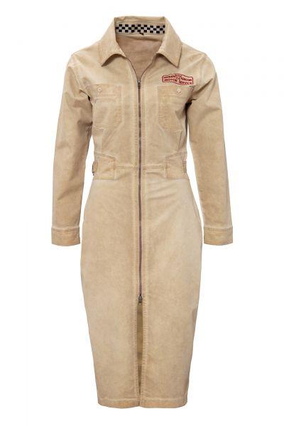 Damen Workwear Kleid im Vintage Look - beige