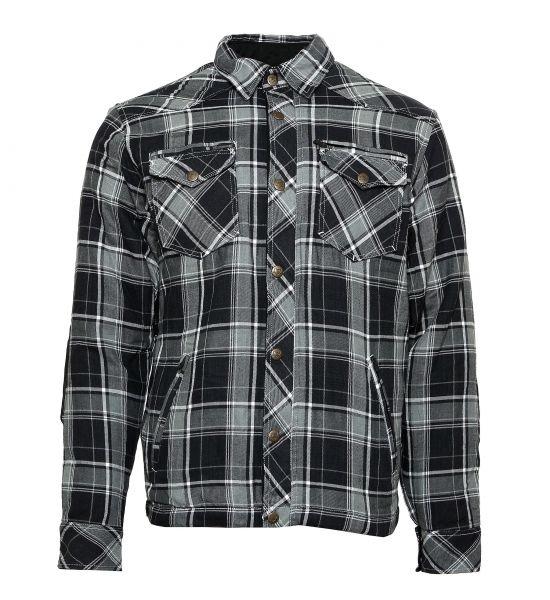 Lumberjack Jacken-Hemd grau/schwarz/weiß