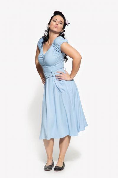 Frauen Vintage Swingkleid im 50er Style hellblau