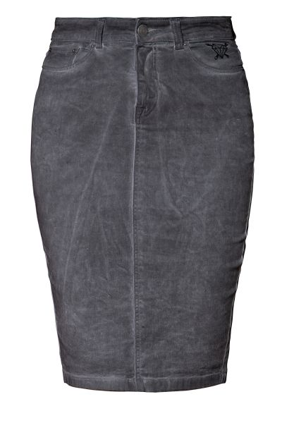 Damen Bleistiftrock oilwashed - light grey