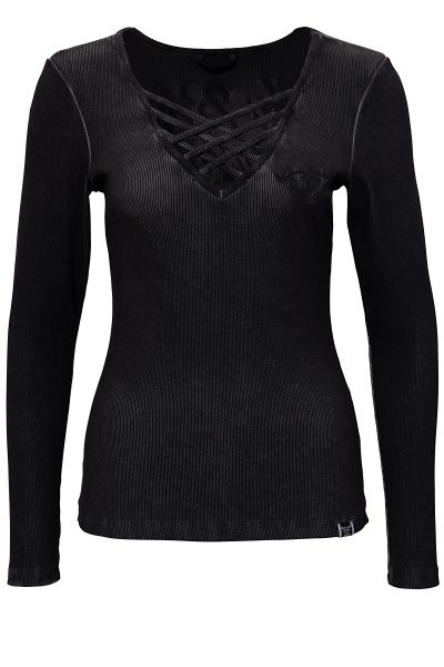 Damen Longsleeve My route my rules Black