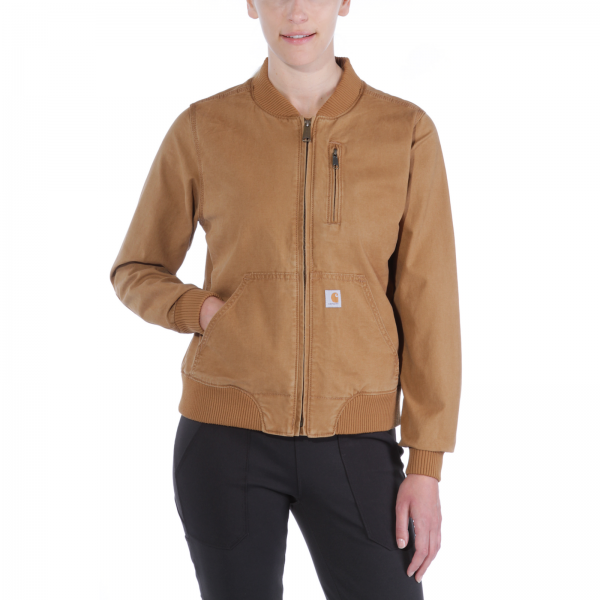 WOMEN CRAWFORD BOMBER JACKET BROWN