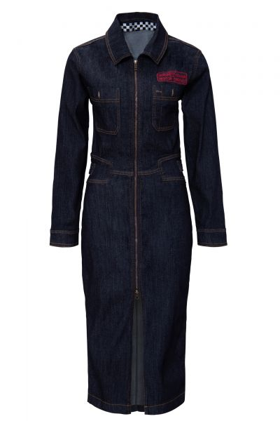 Damen Workwear Kleid im Vintage Look - dark blue