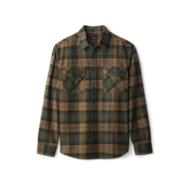 Bowery Herren Flannelhemd Evergreen