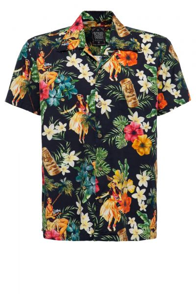 Herren Hawaii-Hemd Dancers black