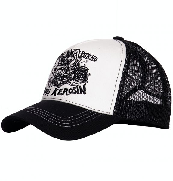 Herren Trucker Cap Motorpsycho white/black